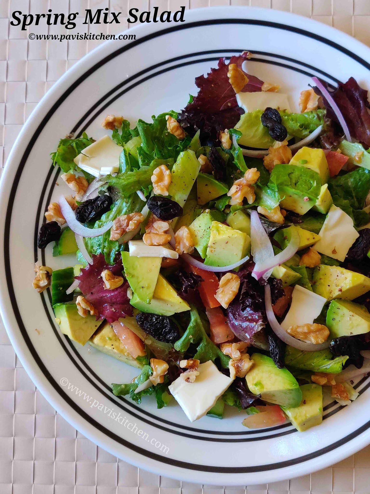 Easy spring salad recipe   Spring green salad recipe   Baby spring mix salad recipe
