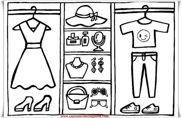 Fashion Closet coloring for Kids