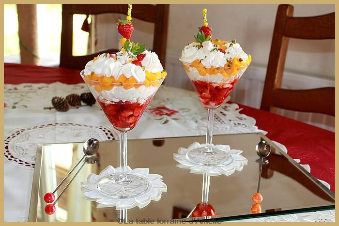 La table lorraine d 39 amelie - Coupe de fraises mascarpone ...