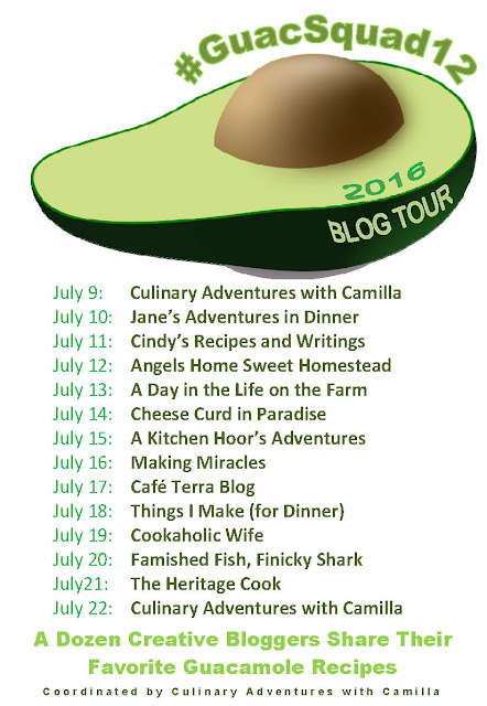 14 ways to each guacamole and only one way to save it! 12 #GuacSquad12 bloggers have come together to share 14 different guacamole recipes in July.