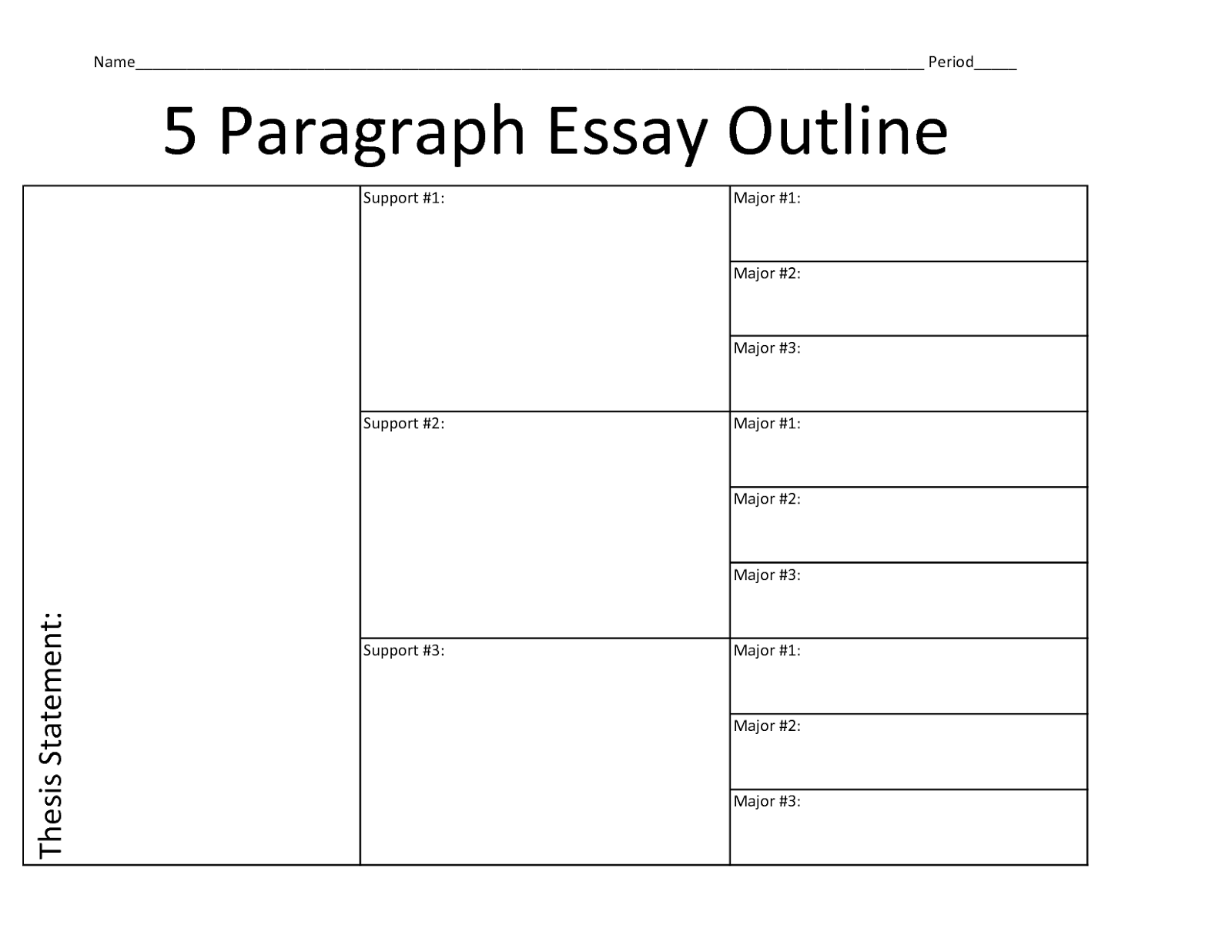Obsessed image inside five paragraph essay outline printable