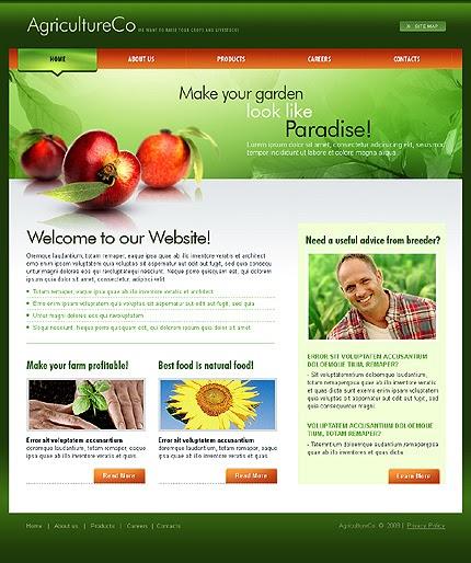 thiết kế web nông nghiệp đẹp