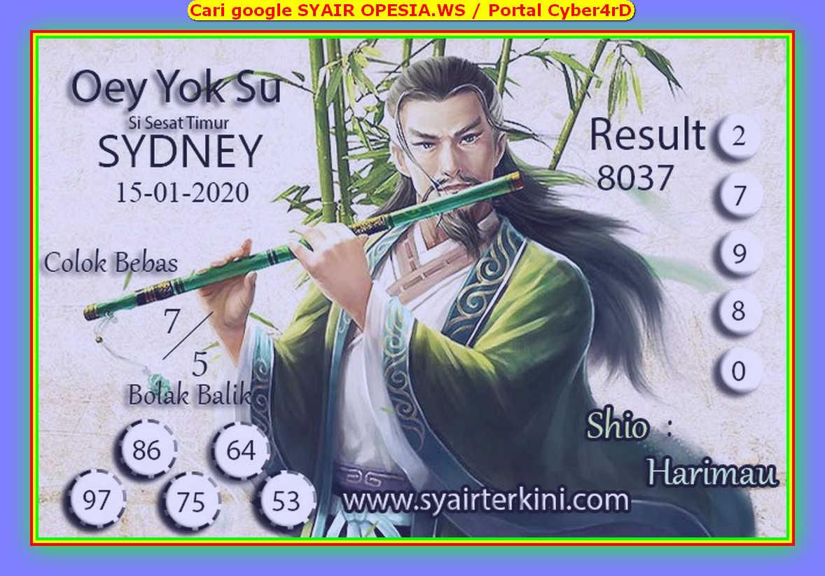 Kode syair Sydney Rabu 15 Januari 2020 49