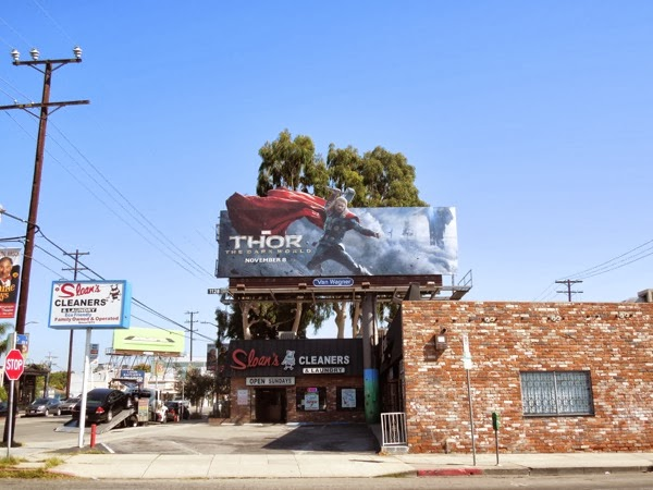 Thor 2 Dark World movie billboard