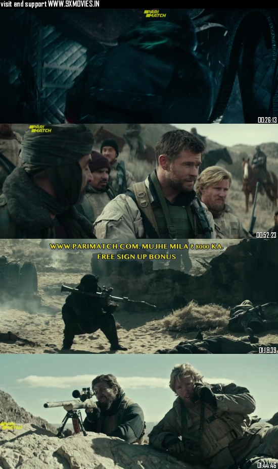 12 Strong 2018 Dual Audio Hindi 480p BluRay 400MB