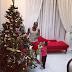 Peter Okoye starts the Christmas celebration with children Ariana and Andre on Banana Island