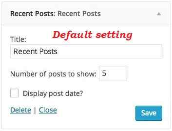 How to Display Images in Default WordPress Recent Post