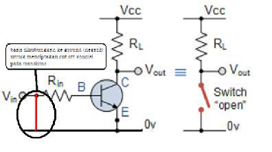 Praktikum aplikasi transistor sebagai saklar dengan Proteus