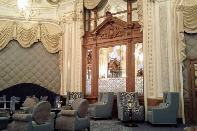 Nice to Monaco by Bus: Inside Monte Carlo Casino lounge