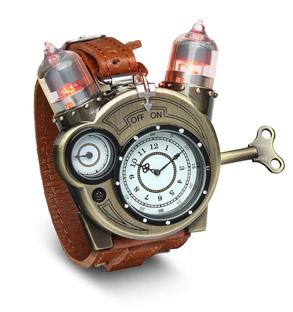 Steampunk-analog-timepiece