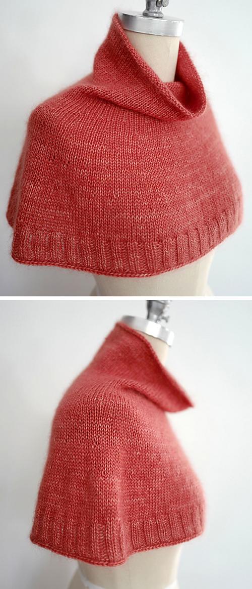Bonjour Hi Cowl - Free Knitting Pattern