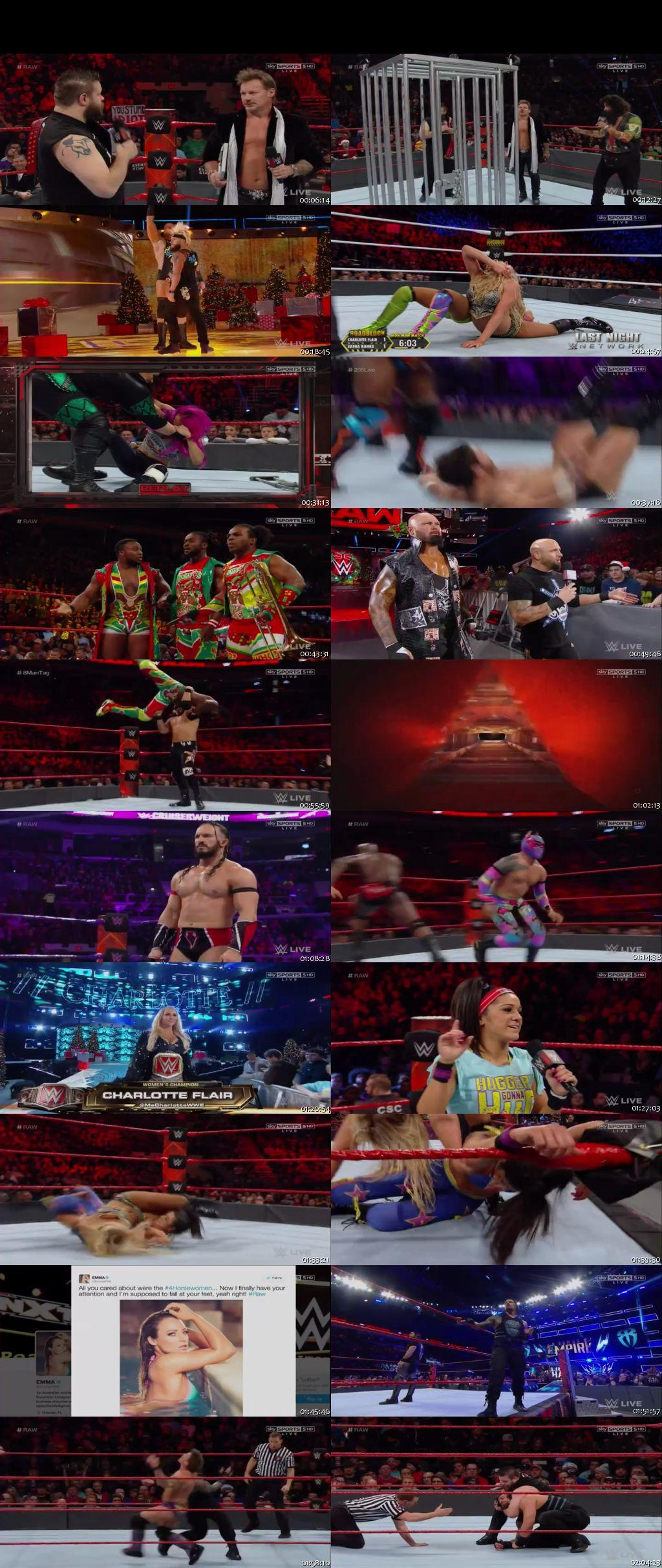 Screen Shot Of WWE Monday Night Raw 19th December 2016 HDTV 480P 300MB