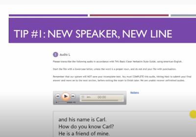 TranscribeMe Exam - Tip 1:  Don't Use Speaker Labels