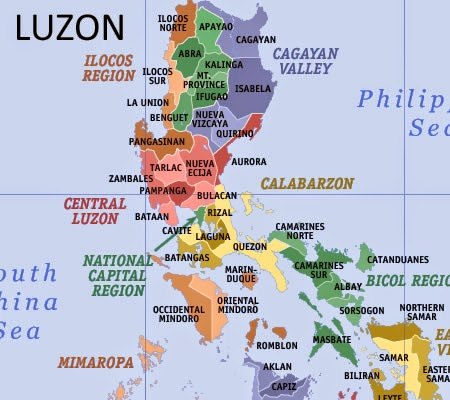List of Luzon Regions and Total Number of Provinces