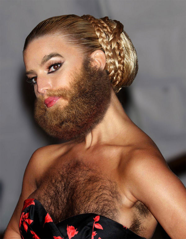 Famous Women And Facial Hair 20