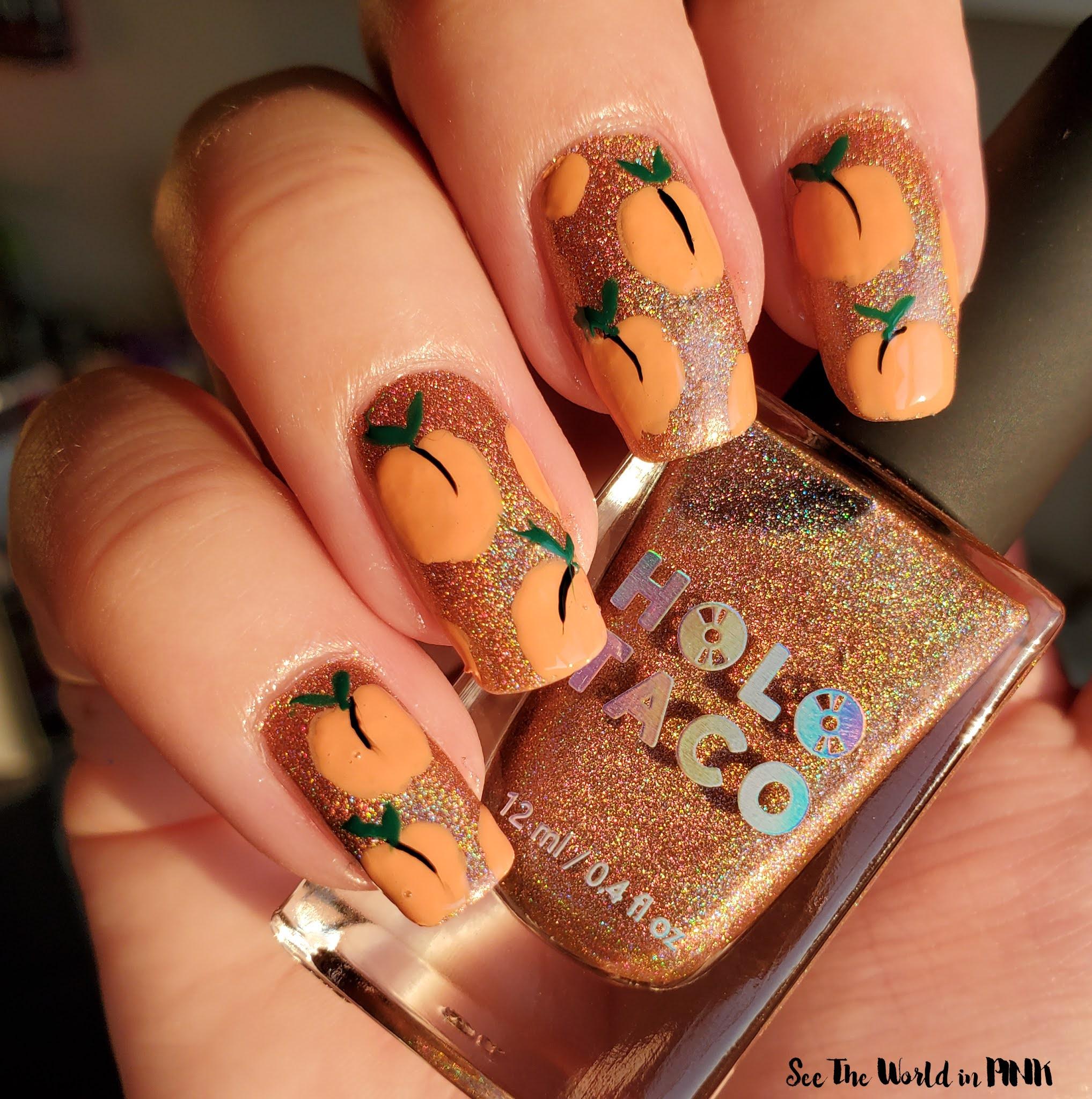 Manicure Monday - Peach Holographic Nails