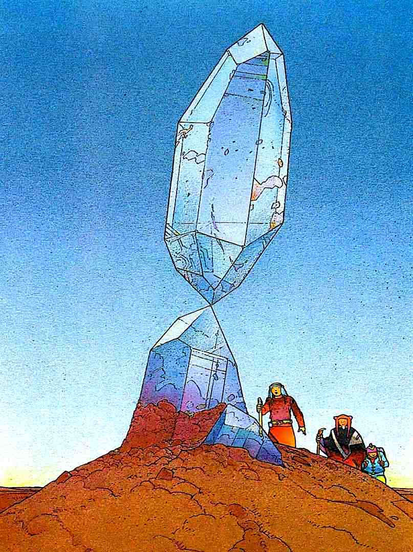 a Moebius desert crystal in color
