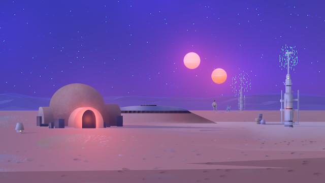 sci-fy landscape