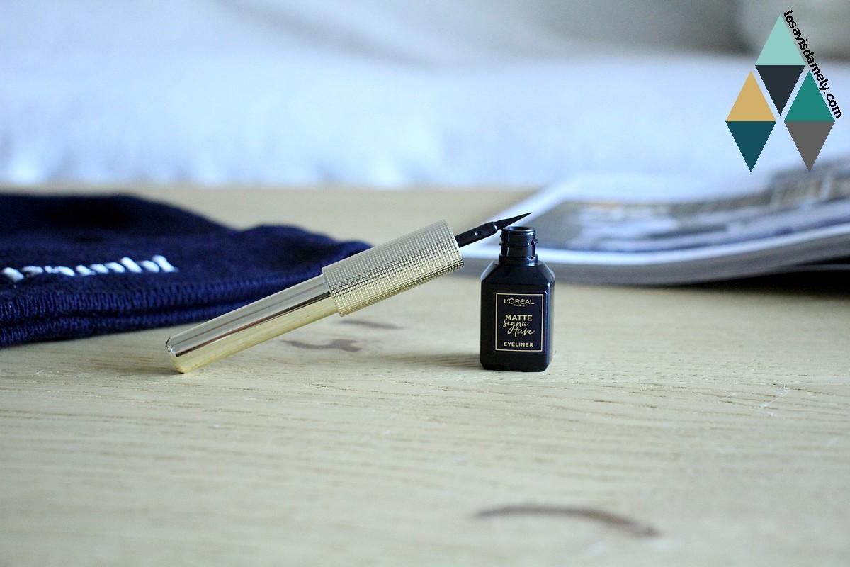 avis et test matte signature liner mat l'oréal paris intense noir