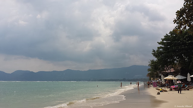 Chaweng beach (north) in Koh Samui, Thailand