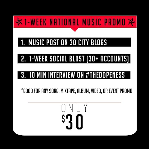 """OPPORTUNITY: USA Blog Network's """"National Music Promo Package"""""""