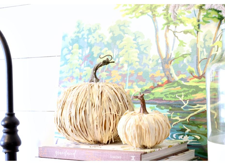 craft DIY using raffia yarn for home decor