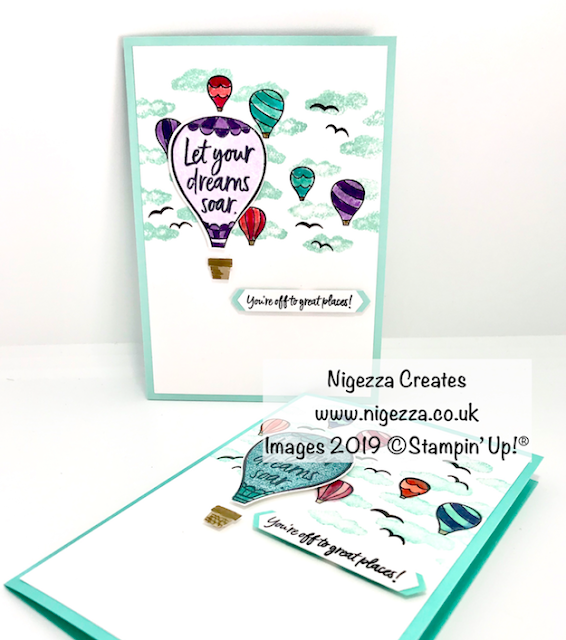 Nigezza Creates, Stampin' Up! Above the Clouds