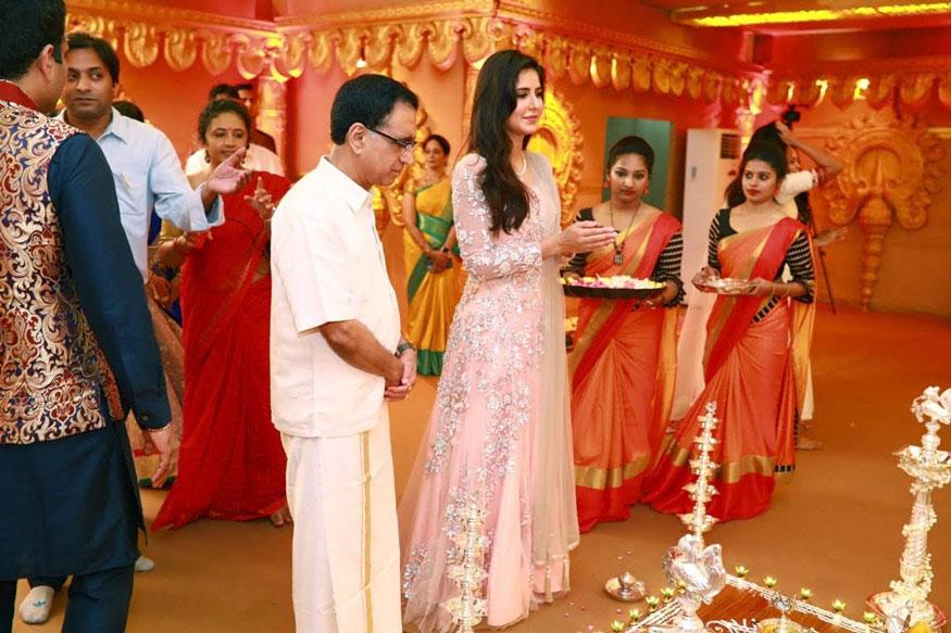 Katrina Kaif During Star-Studded Navratri Celebrations at Kalyanaramans In kerala