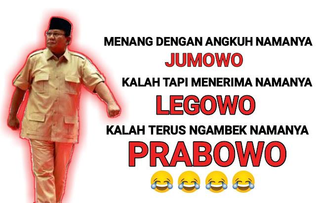 Kumpulan Gambar MEME Prabowo Kalah Pilpres, Bikin Ngakak wkwk  Lalu ahmad