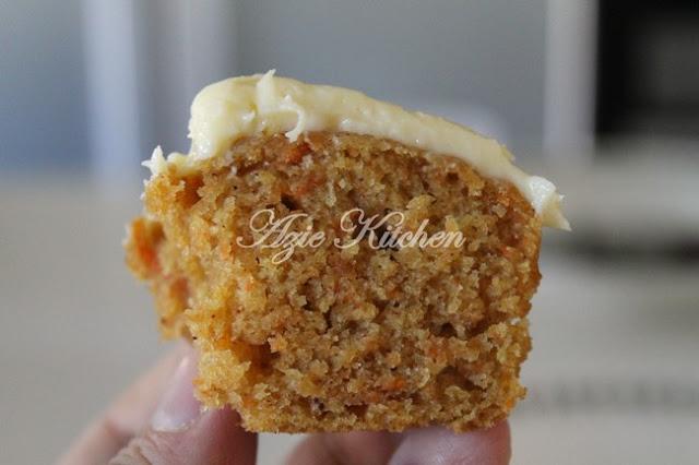 Moist Carrot Cupcake Yang Sangat Sedap