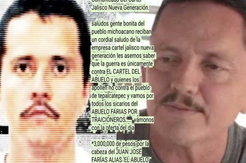 3M pesos Reward for the head of Abuelo offered by CJNG