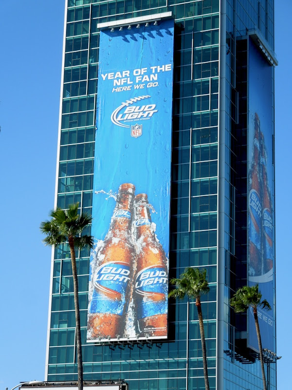 Year of NFL fan Bud Light billboard
