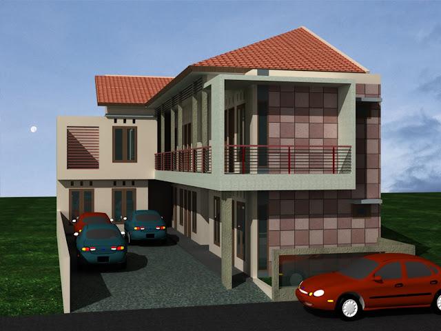 Desain Rumah Kost Di Lahan Sempit Tampak Depan