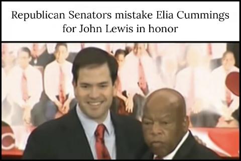 Republican Senators mistake Elia Cummings for John Lewis in honor
