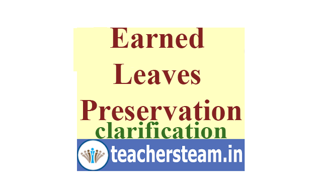 Earned Leaves(ELs) Preservation Clarification memo from Director of School Education(DSE) Rc  No 03/plg-1/2020 Dt: 21-01-2020