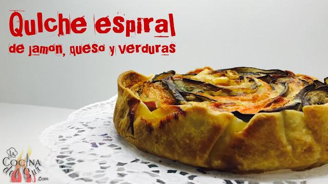 RATATOUILLE ESPIRAL DE JAMON, QUESO Y VERDURAS-QUICHE