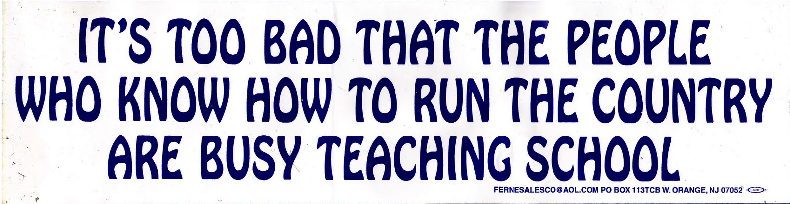 Bumper Stickers For Teachers