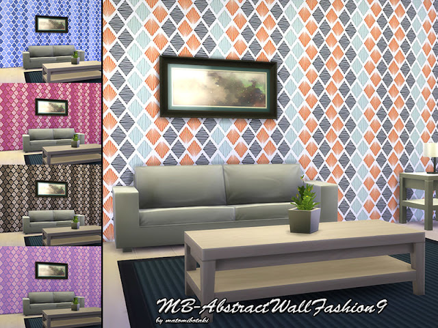 Стены с геометрическим рисунком для Sims 4 со ссылкой для скачивания