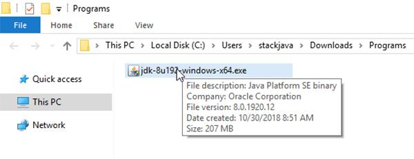 Hướng dẫn cách tải và cài đặt JAVA 8 trên Windows b