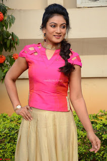 Ashmita in Pink Top At Om Namo Venkatesaya Press MeetAt Om Namo Venkatesaya Press Meet (55).JPG