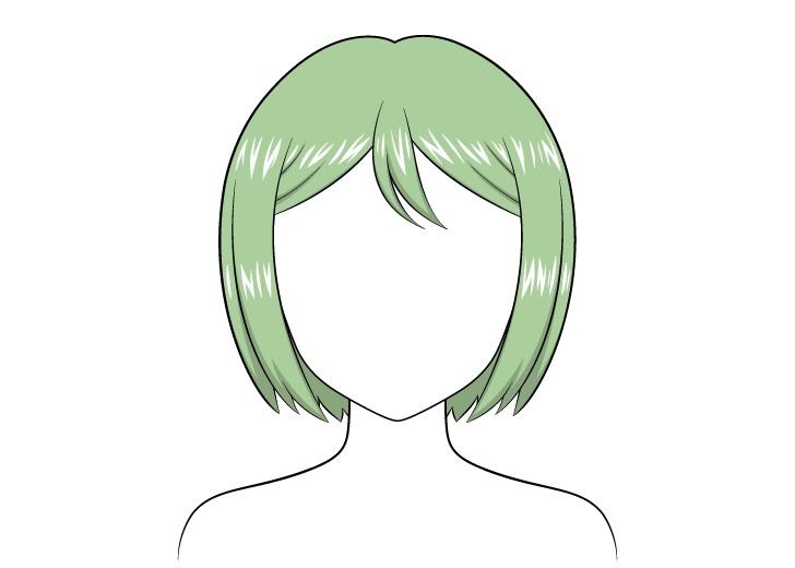 Gambar highlight rambut anime combed