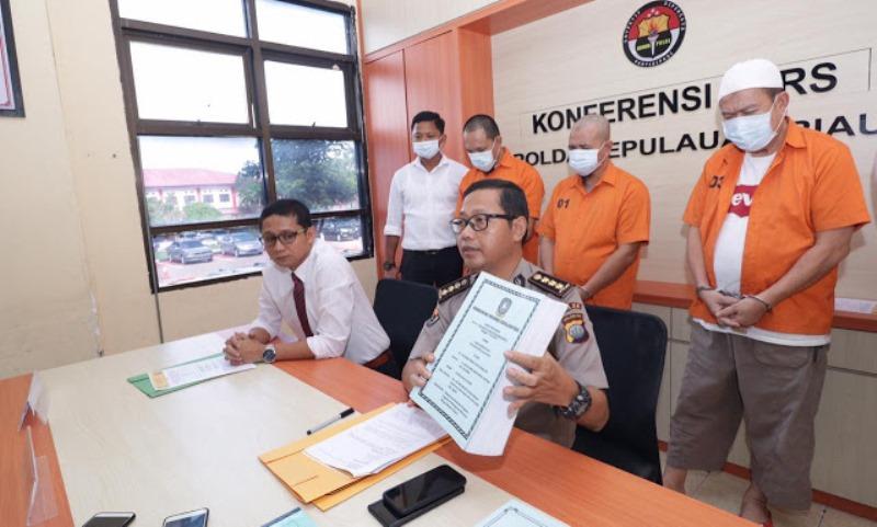 Polda Kepri Ungkap Korupsi Pengadaan Bangunan Monumen Bahasa Melayu Tahap II