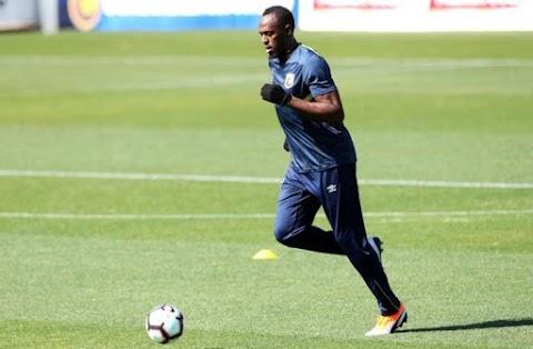 Labdarúgás: Usain Bolt új csapatával edzett