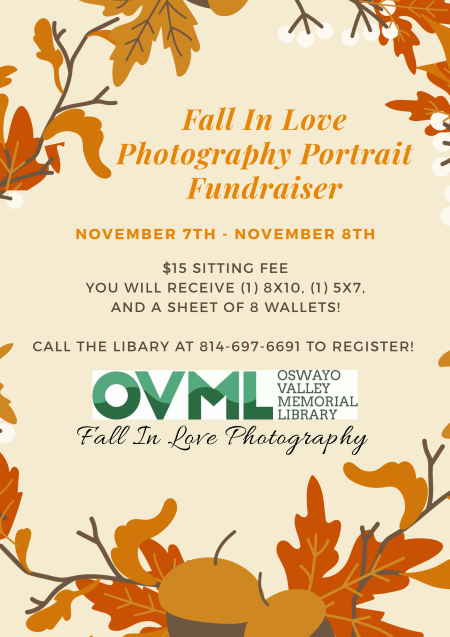 11-7/8 Oswayo Valley Memorial Library Fundraiser