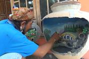Seni Lukis Getong Bekas  Jadi Karya Bernilai Tinggi