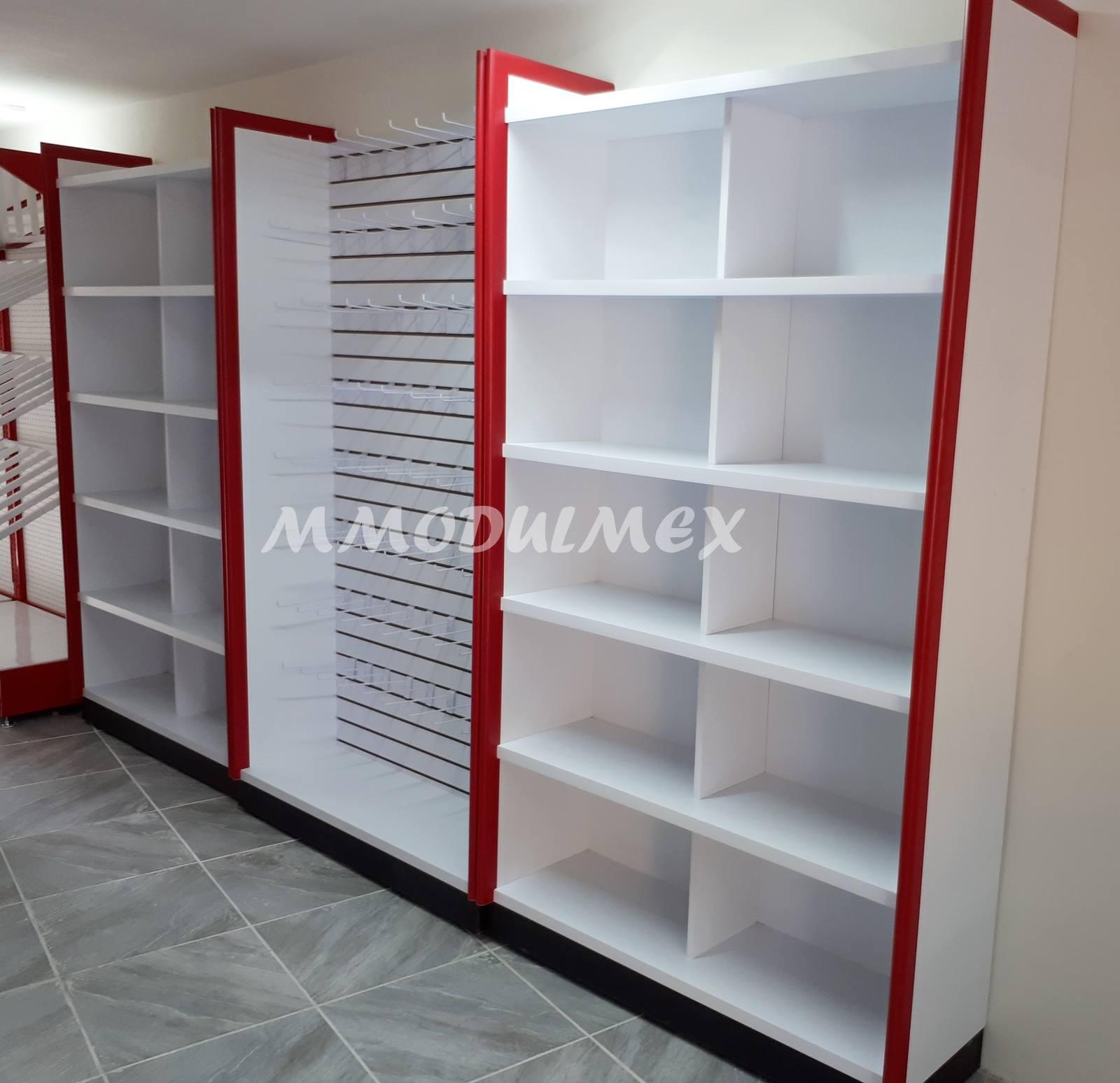 Mostradores vitrinas y estantes para tiendas y negocios - Madera para estantes ...