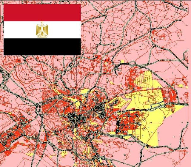مجموعة من الخرائط الرقمية بصيغة shapefile لبعض الدول العربية