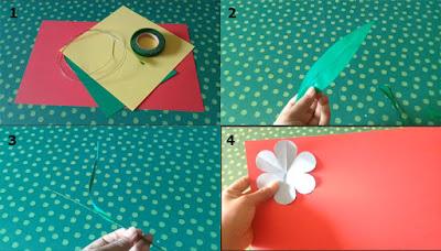 Tutorial Bunga dari Kertas untuk Kerajinan SD 1
