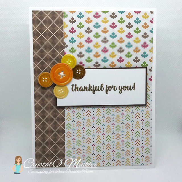 Sunny Studio Stamps: Cute As A Button Customer Card by Crystal Minkler