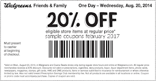 free Walgreens coupons february 2017